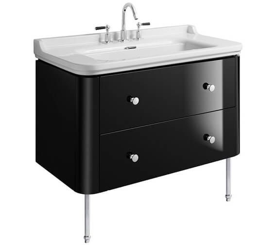 Alternate image of Bauhaus Waldorf 1000mm Basin Unit With Legs And 4 Knobs