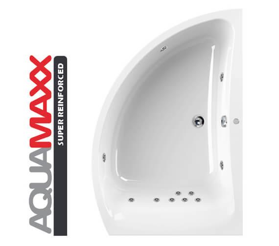 Additional image of Aquaestil Comet Aquamaxx 1500 x 1000mm Right Hand Whirlpool Bath - 6 To 24 Jets