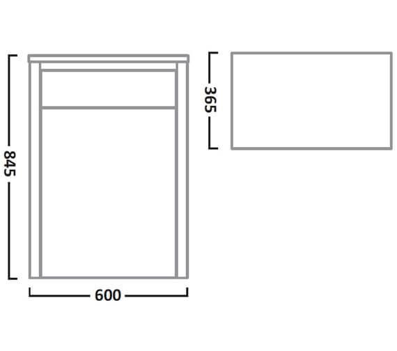 Technical drawing QS-V7219 / LAN600BTW.LW