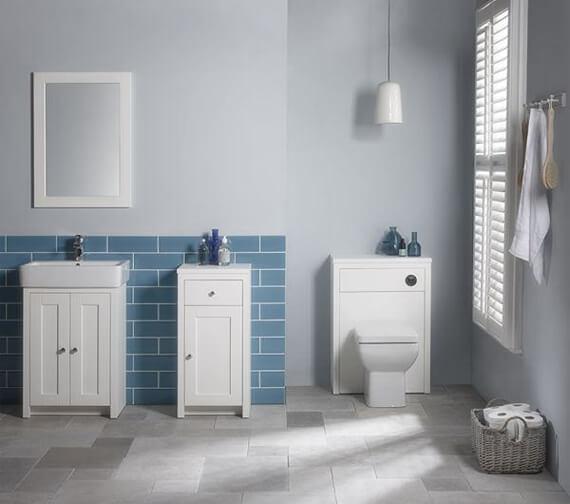 Tavistock Lansdown Contemporary Back To Wall WC Unit 600mm Linen White