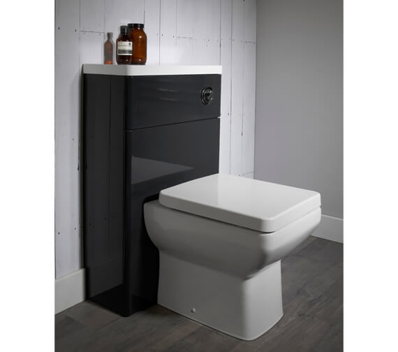 Tavistock Q60 500mm Back To Wall WC Unit And Worktop Gloss White