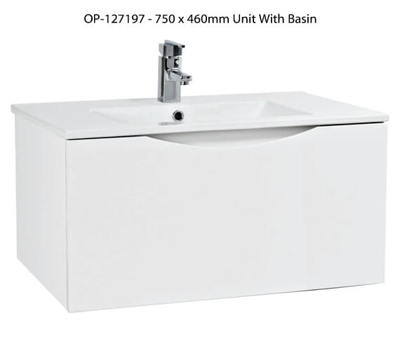 Alternate image of Phoenix Malmo White Wall Hung Unit And Basin - More Sizes Available