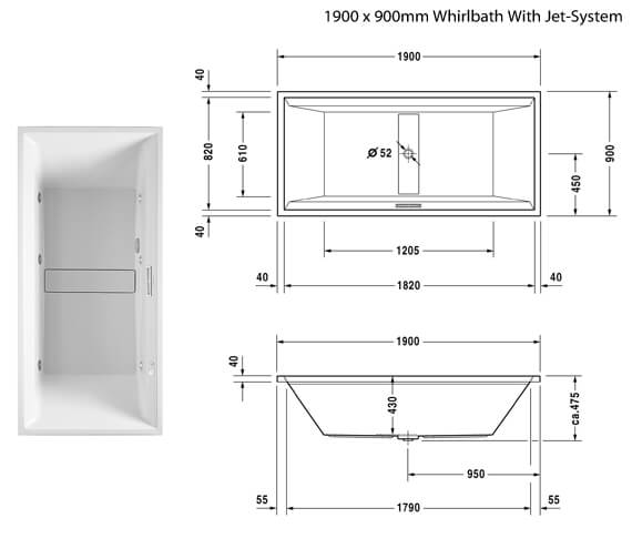 Additional image of Duravit  760076000JS1000