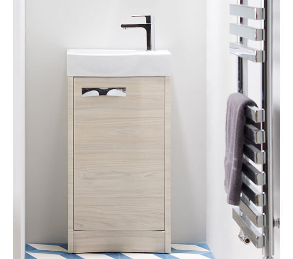 Alternate image of Roper Rhodes Mia 450mm White Single Door Freestanding Unit With Basin