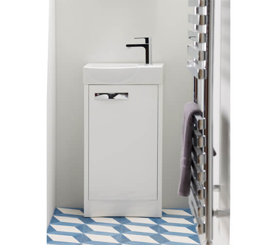 Roper Rhodes Mia 450mm White Single Door Freestanding Unit With Basin
