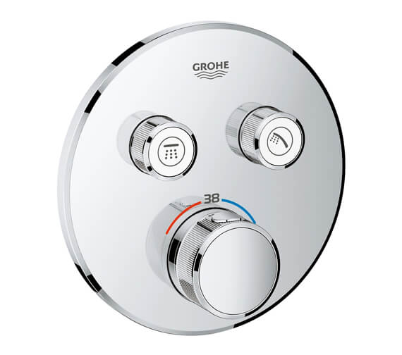 Grohe Grohtherm Chrome SmartControl Thermostat With 2 Valve