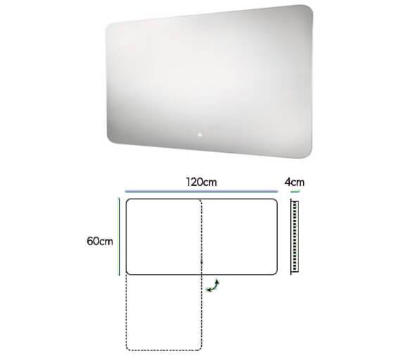 Additional image of HIB Ambience LED Illuminated Steam Free Mirror 50 - 60 -120