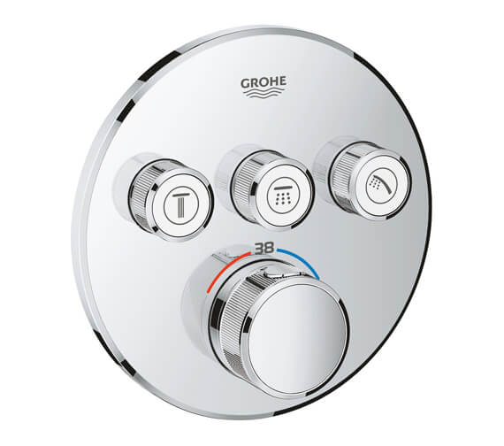 Grohe Grohtherm Chrome SmartControl Thermostat With 3 Valves