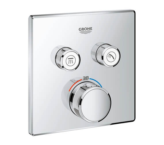 Grohe Grohtherm Chrome SmartControl Thermostat With Two Valve