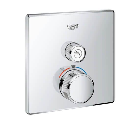 Grohe Grohtherm Chrome SmartControl Thermostat With One Valve