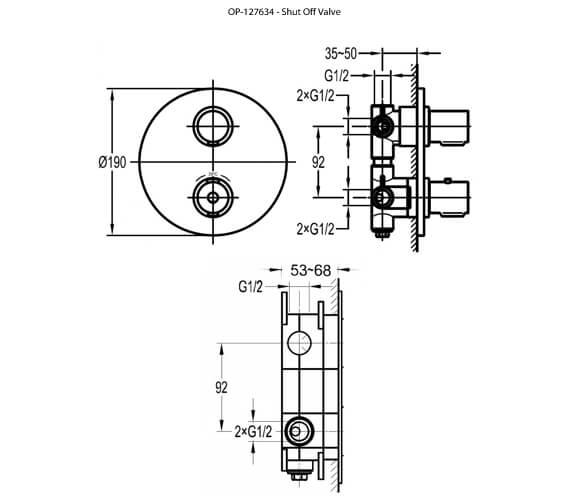 Technical drawing QS-V8482 / AL222TRIM