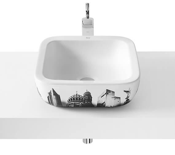 Additional image of Roca Urban 400mm Basin With London City Design - Barcelona - Berlin - New York - Rio De Janeiro - Shanghai City Design Available