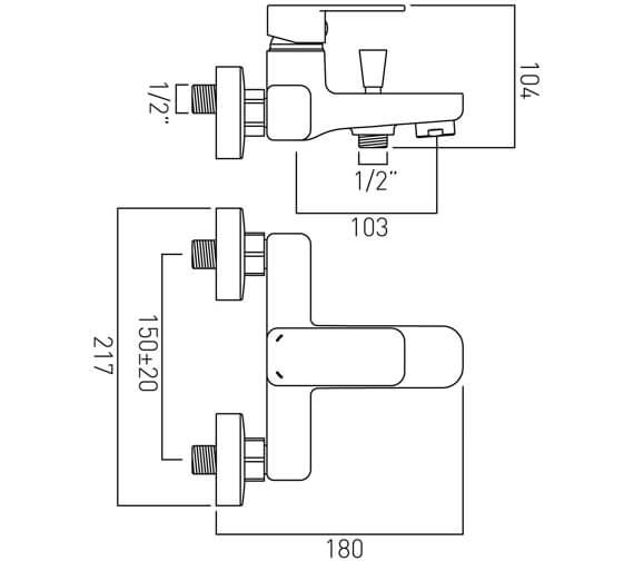 Technical drawing QS-V20558 / PHA-123-C/P