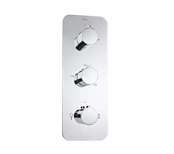 Roca Puzzle Built-In Thermostatic Shower Mixer With 3 Way Diverter
