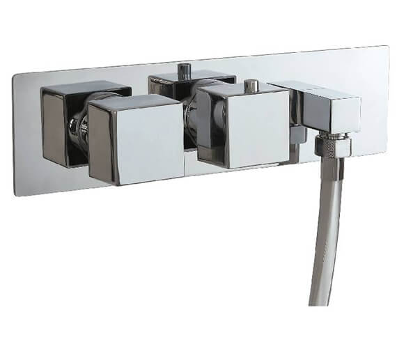 Phoenix Concealed Dual Function Twin Valve With Outlet Elbow And Square Handle