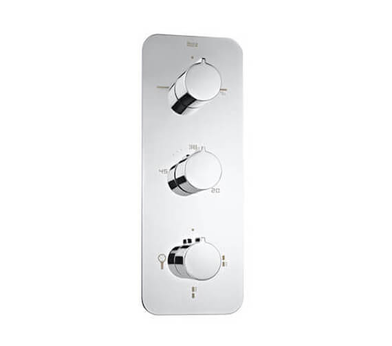 Additional image of Roca Puzzle Built-In Thermostatic Shower Mixer With 3 Way Diverter