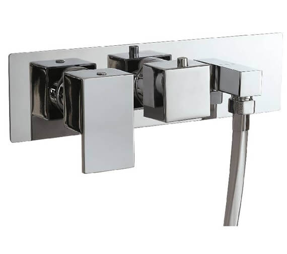 Additional image of Phoenix Concealed Dual Function Twin Valve With Outlet Elbow And Square Handle
