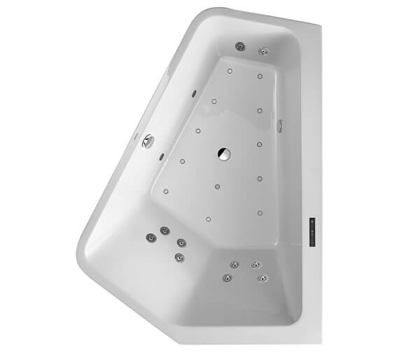 Additional image of Duravit Paiova 1900mm Left Hand 5 Corner Built In Bath With Combi System L