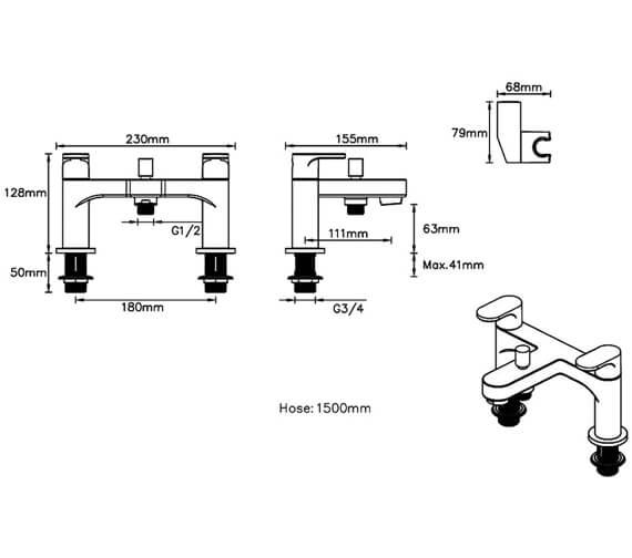 Technical drawing QS-V88054 / BRBSMCPUK