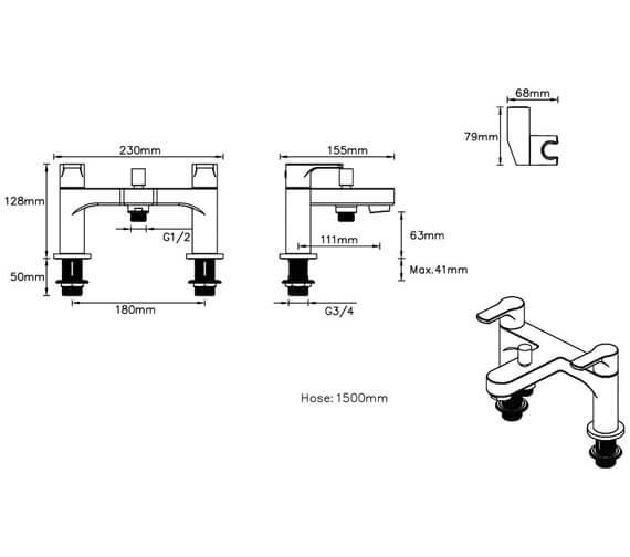 Additional image of Deva Methven Deck Mounted Bath Shower Mixer Tap