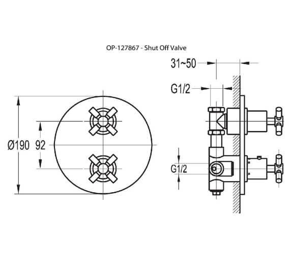 Technical drawing QS-V27181 / XLT222TRIM