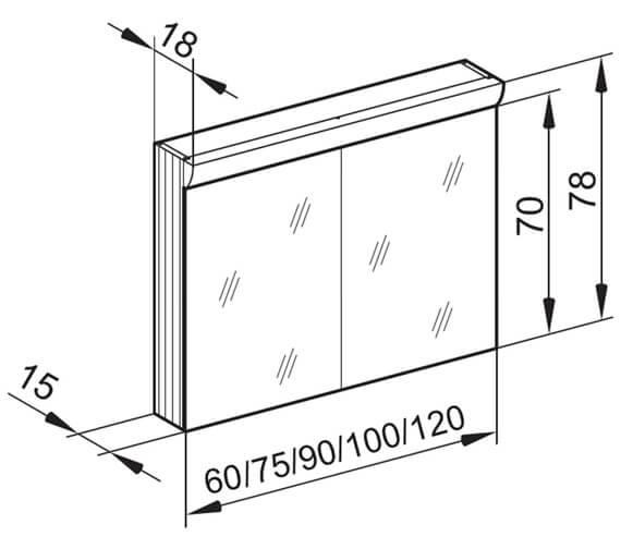 Technical drawing QS-V16626 / WLS 60/2/FL