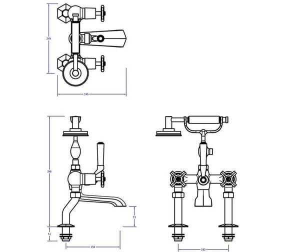 Technical drawing QS-V80084 / WF422DC