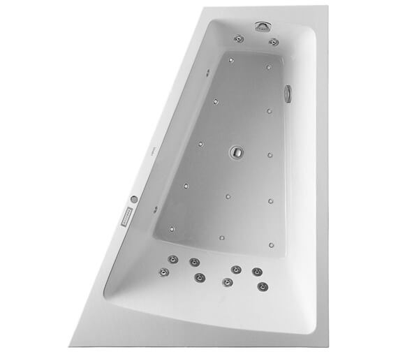 Additional image of Duravit Paiova 1700 x 1300mm Left Hand Backrest Slope Bath With Panel And Combi System E