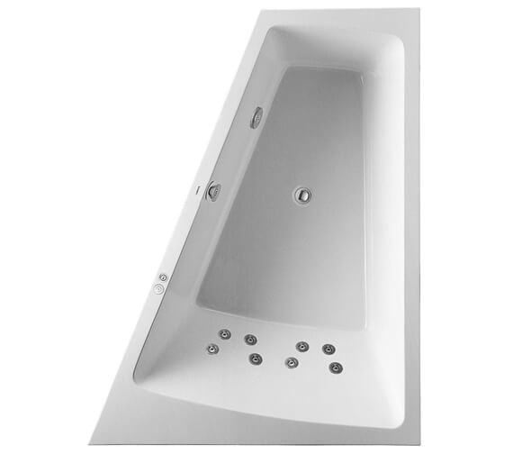 Additional image of Duravit Paiova 1800 x 1400mm Left Hand Built In Slope Bath With Jet System