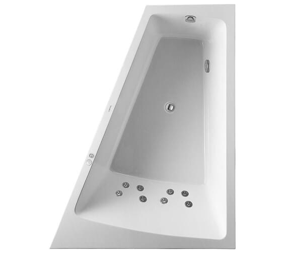Additional image of Duravit Paiova 1800 x 1400mm Left Hand Backrest Slope Bath With Panel And Jet System