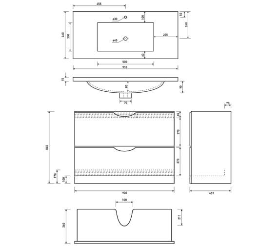 Technical drawing QS-V6702 / FU043