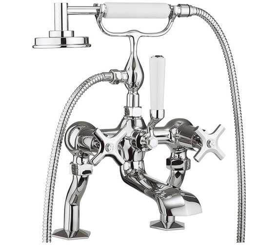 Crosswater Waldorf Deck Mounted Bath Shower Mixer Tap With Kit - Available Handle Variation