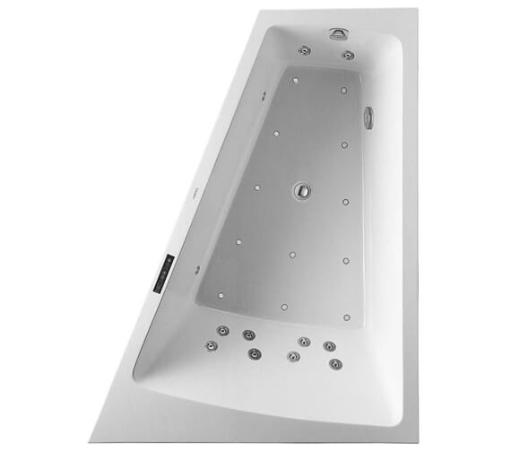 Additional image of Duravit Paiova 1800 x 1400mm Left Hand Backrest Slope Bath With Panel And Combi System L