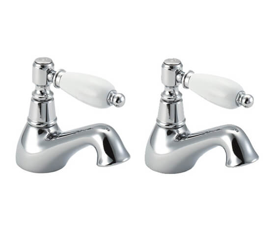 Deva Georgian Pair Of Bath Tap Chrome