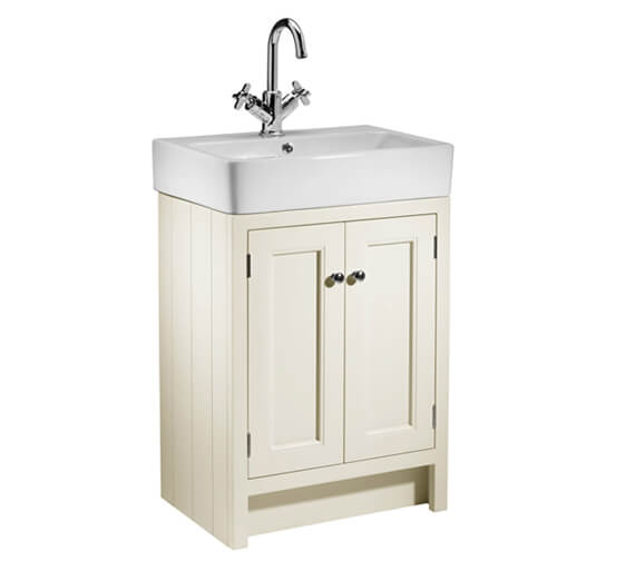 Additional image of Roper Rhodes Hampton 550mm White 2 Door Countertop Unit With Basin
