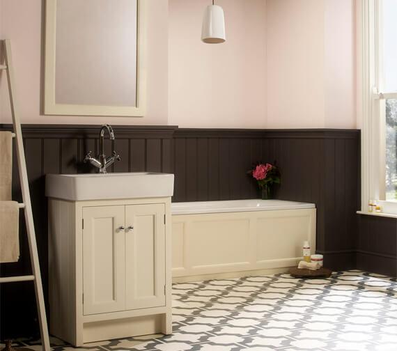 Roper Rhodes Hampton 550mm White 2 Door Countertop Unit With Basin