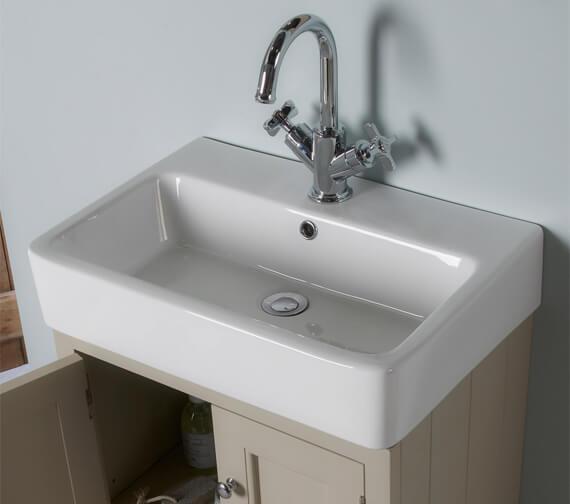 Alternate image of Roper Rhodes Hampton 550mm White 2 Door Countertop Unit With Basin