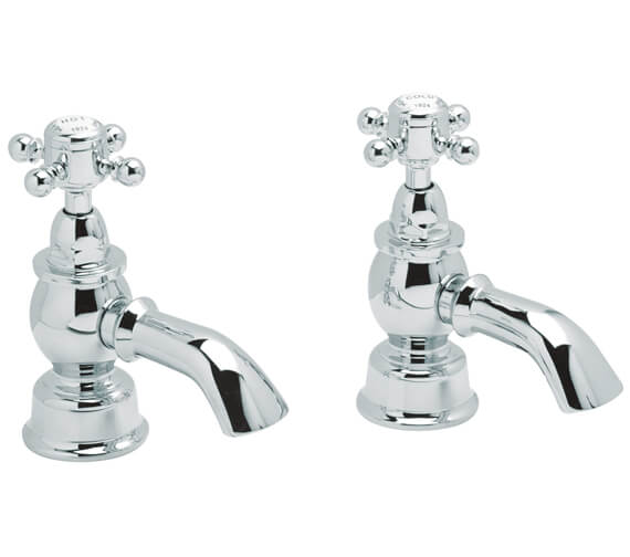 Heritage Hartlebury Pair Of Bath Pillar Tap Chrome