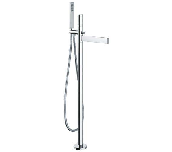 Abode Cyclo Floor Standing Bath Filler Tap With Shower Handset