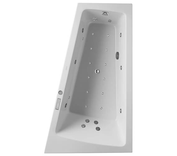Additional image of Duravit Paiova 1700 x 1000mm Left Hand Slope Bath With Panel And Combi System E
