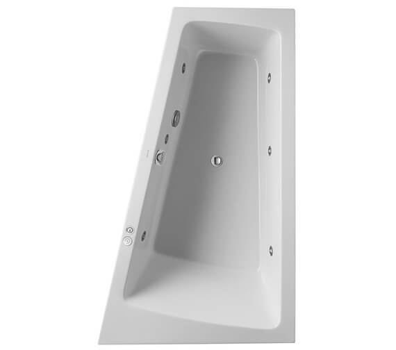 Additional image of Duravit Paiova 1700 x 1000mm Left Hand Built In Slope Bath With Jet System