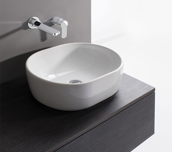 Bauhaus Gallery Pearl 450mm Countertop Basin White Without Overflow