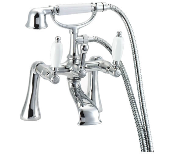 Deva Georgian Pillar Mounted Bath Shower Mixer Tap Chrome