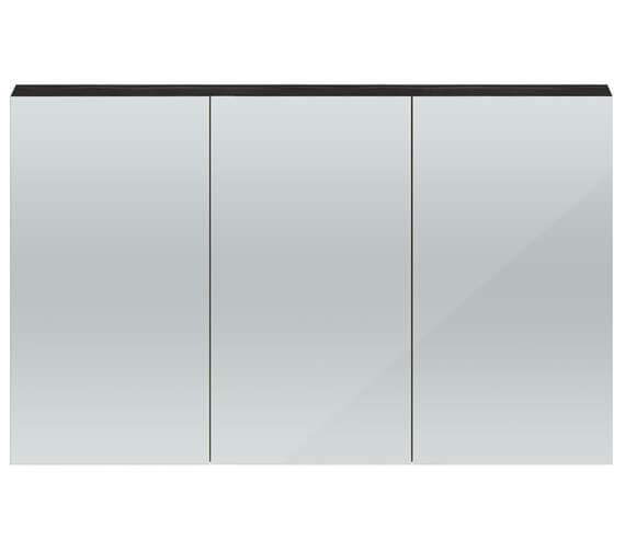 Hudson Reed Quartet 1350 x 715mm 3 Door Mirror Cabinet