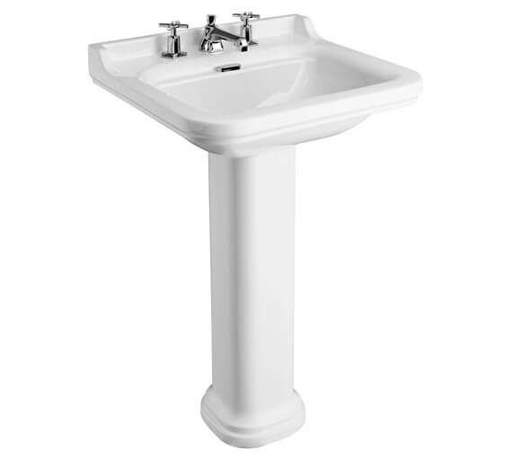 Alternate image of Bauhaus Waldorf 600mm 1 Tap Hole Basin And Pedestal