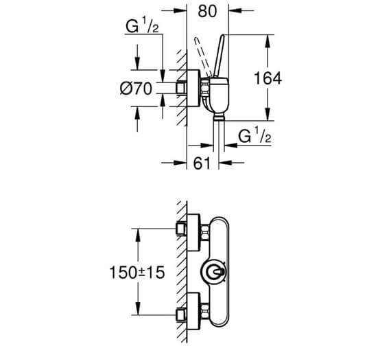 Technical drawing QS-V81780 / 23430000