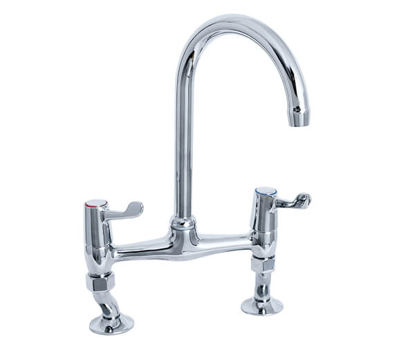 Deva Lever Action Bridge Sink Mixer Tap 3 Inch Lever