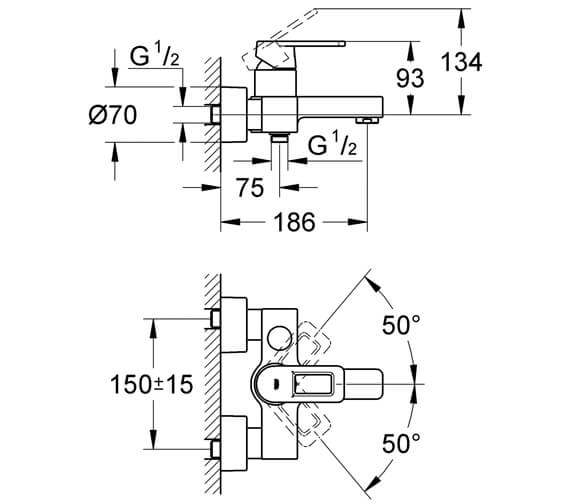 Technical drawing QS-V28460 / 32638000