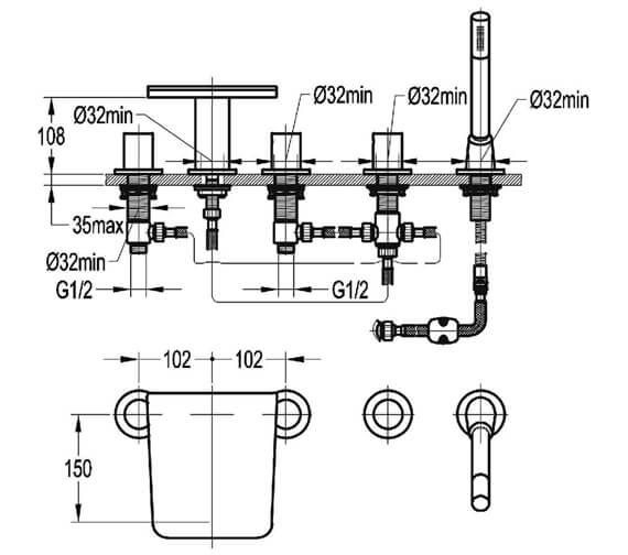 Technical drawing QS-V27052 / AN5HBSM