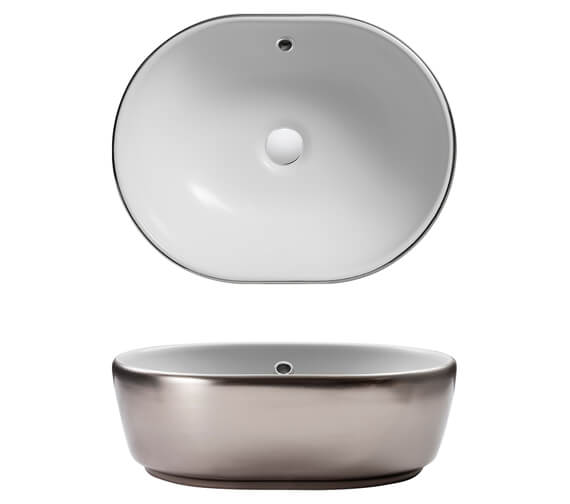 Alternate image of Bauhaus Gallery Pearl 450mm Countertop Basin White With Overflow